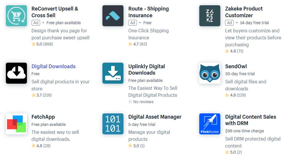 Shopifyのデジタルデータ販売