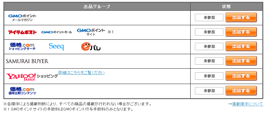MakeShopアイテムポスト