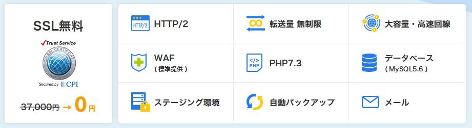CPIレンタルサーバーの機能