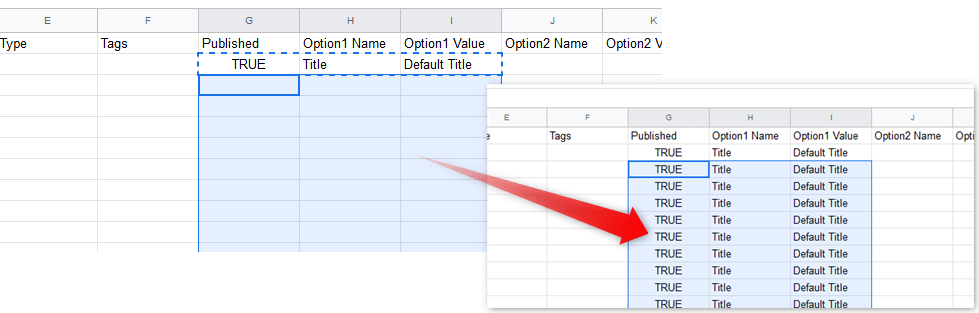 BASEのデータをShopifyに貼り付ける