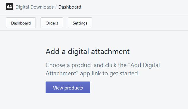 Add a digital attachment