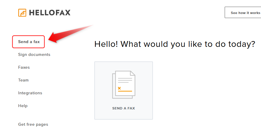 Hellofaxの使い方