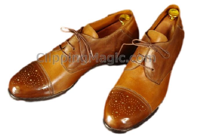 Clipping Magicで透過処理した革靴の画像