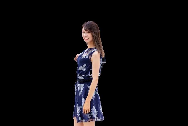 PIXLRで透過処理した女性の画像